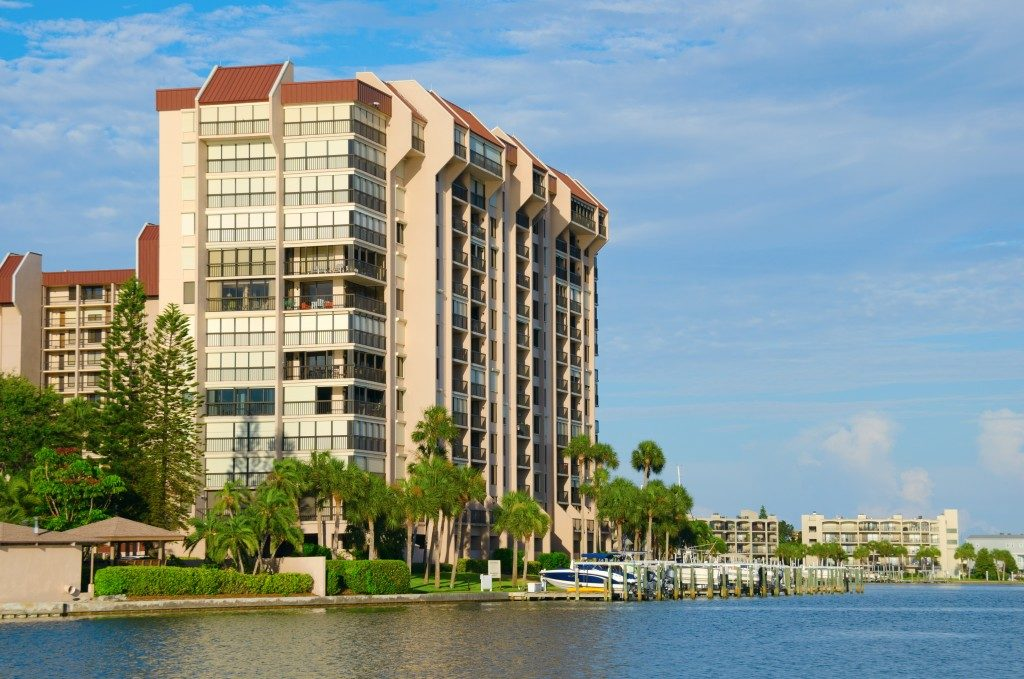 Waterside condominium