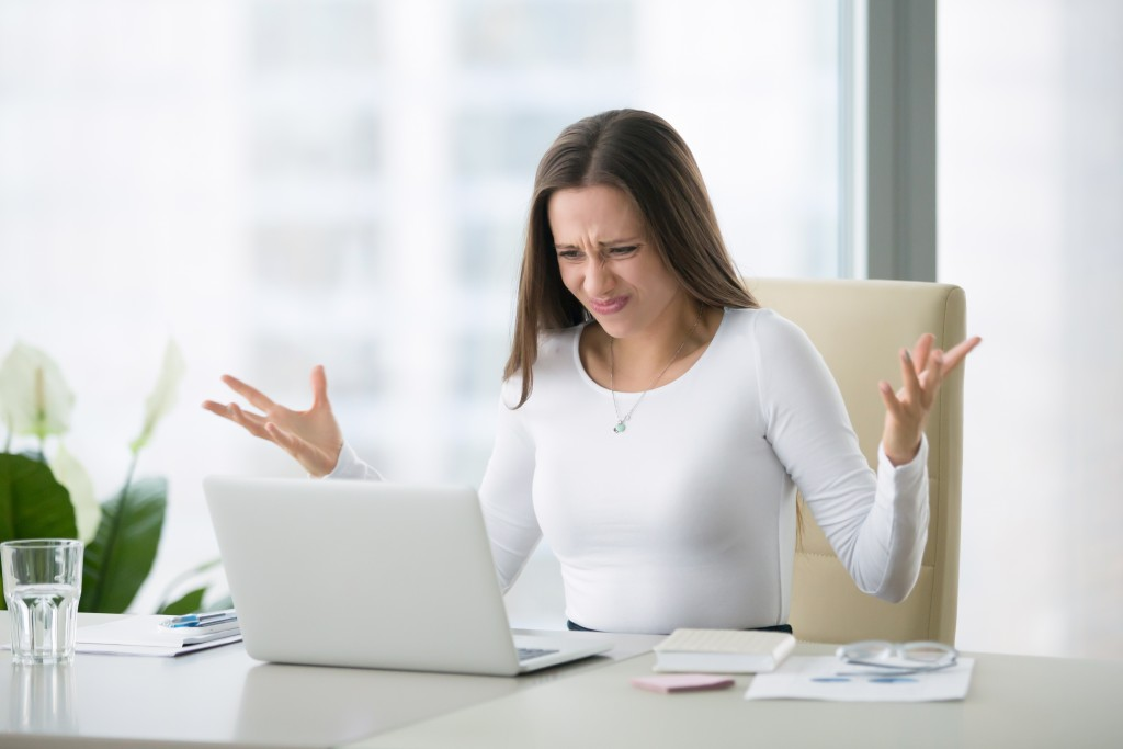 Woman worried about a plan for the business