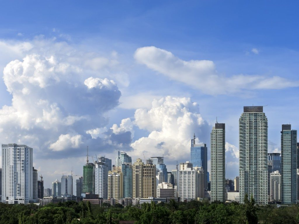 Makati City buildings from afar