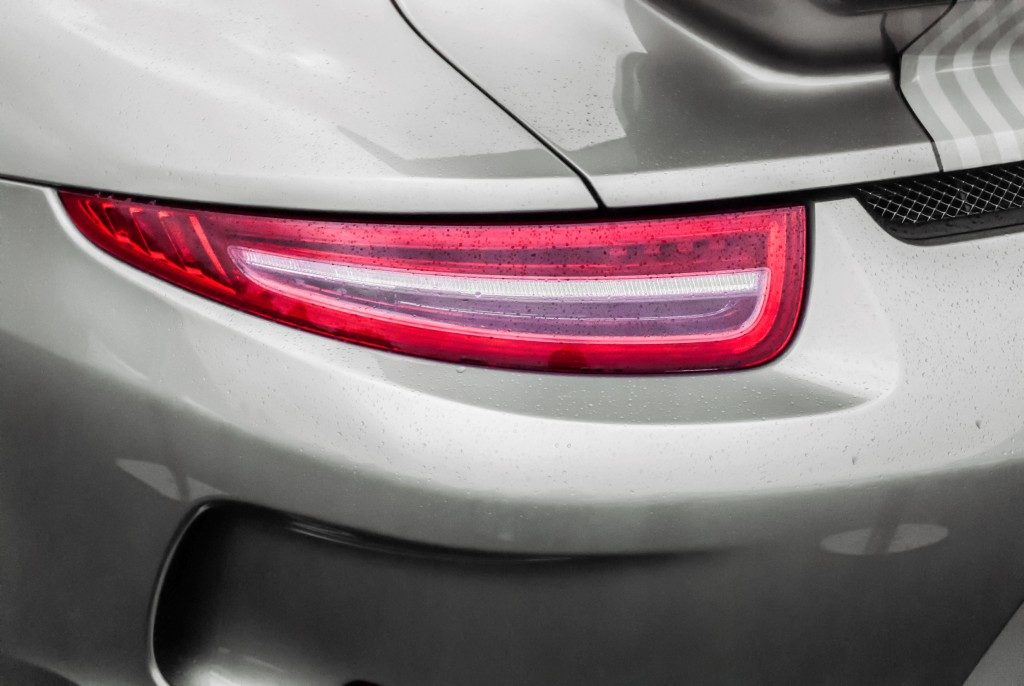 tail light of porsche car