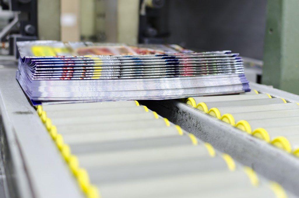 conveyor at a factory