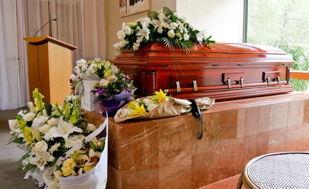 burial ceremony at a funeral home