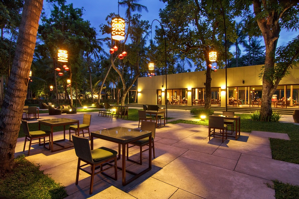 Outdoor space of a restaurant