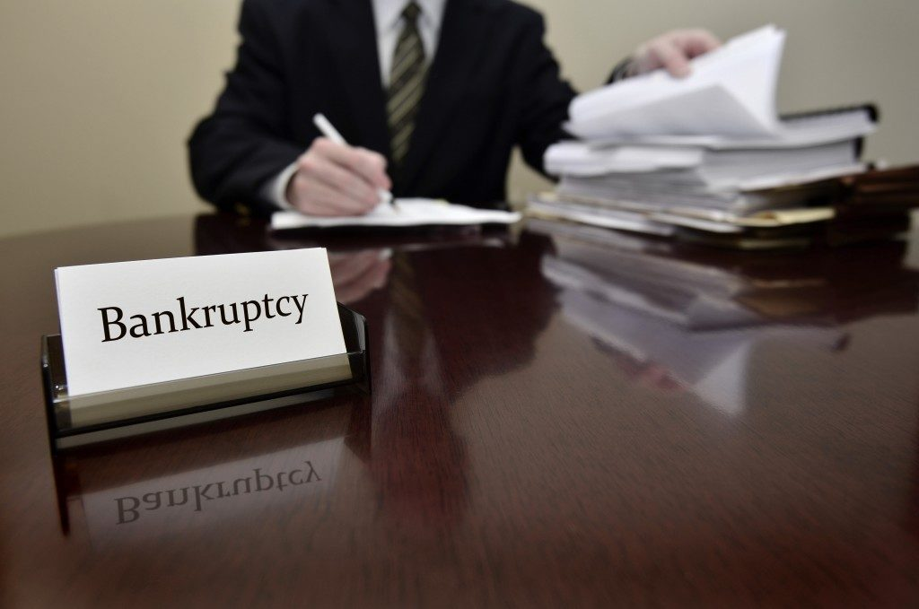 bankruptcy lawyer working