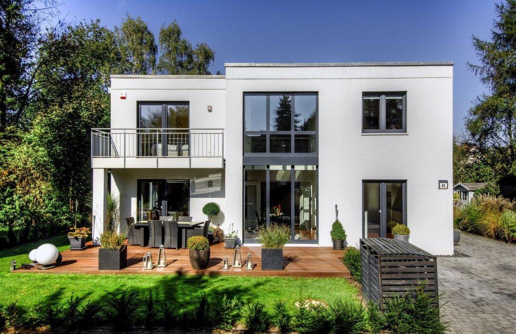 beautiful modernized house exterior