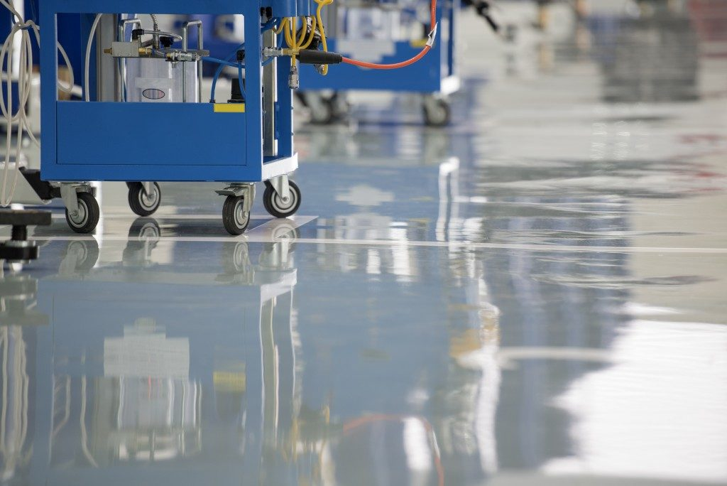 Epoxy floor in a commercial space