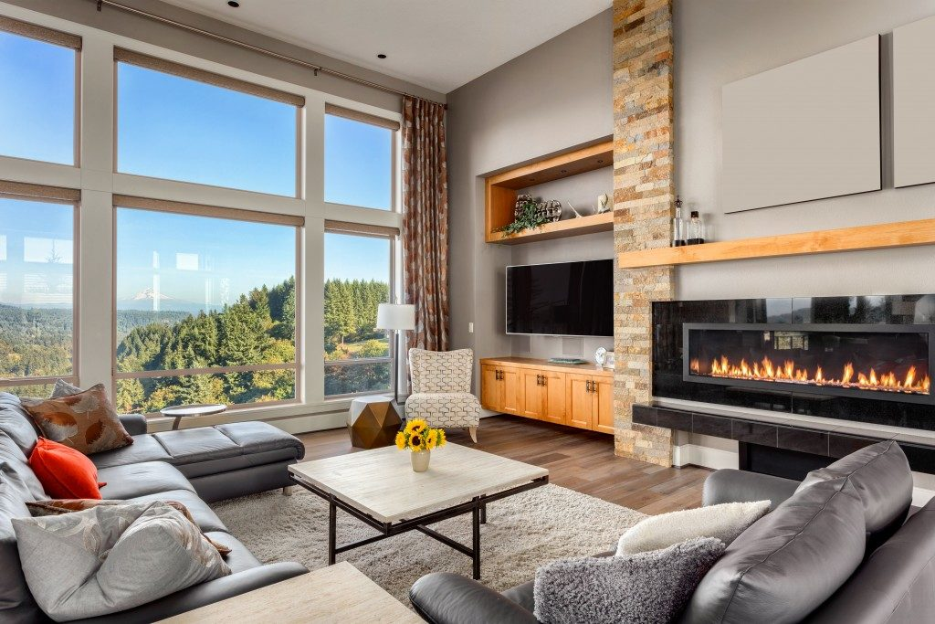 Luxury condo unit with fireplace