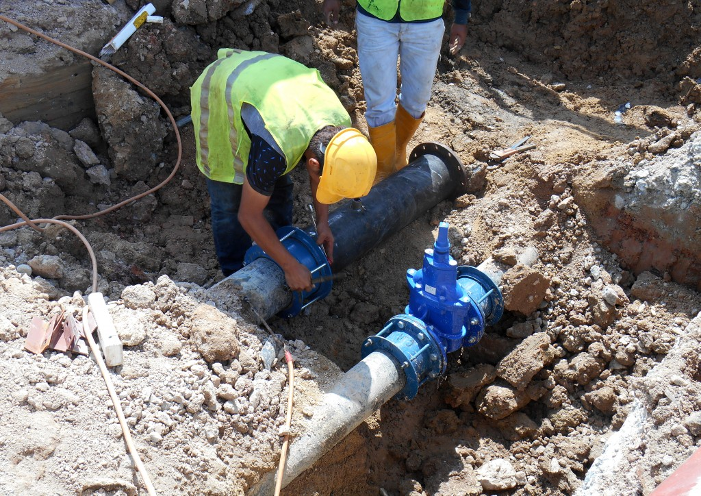 Fixing the sewer line