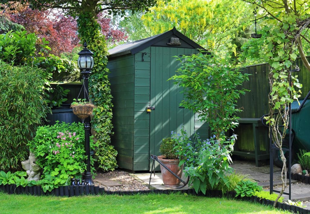 backyards with planters