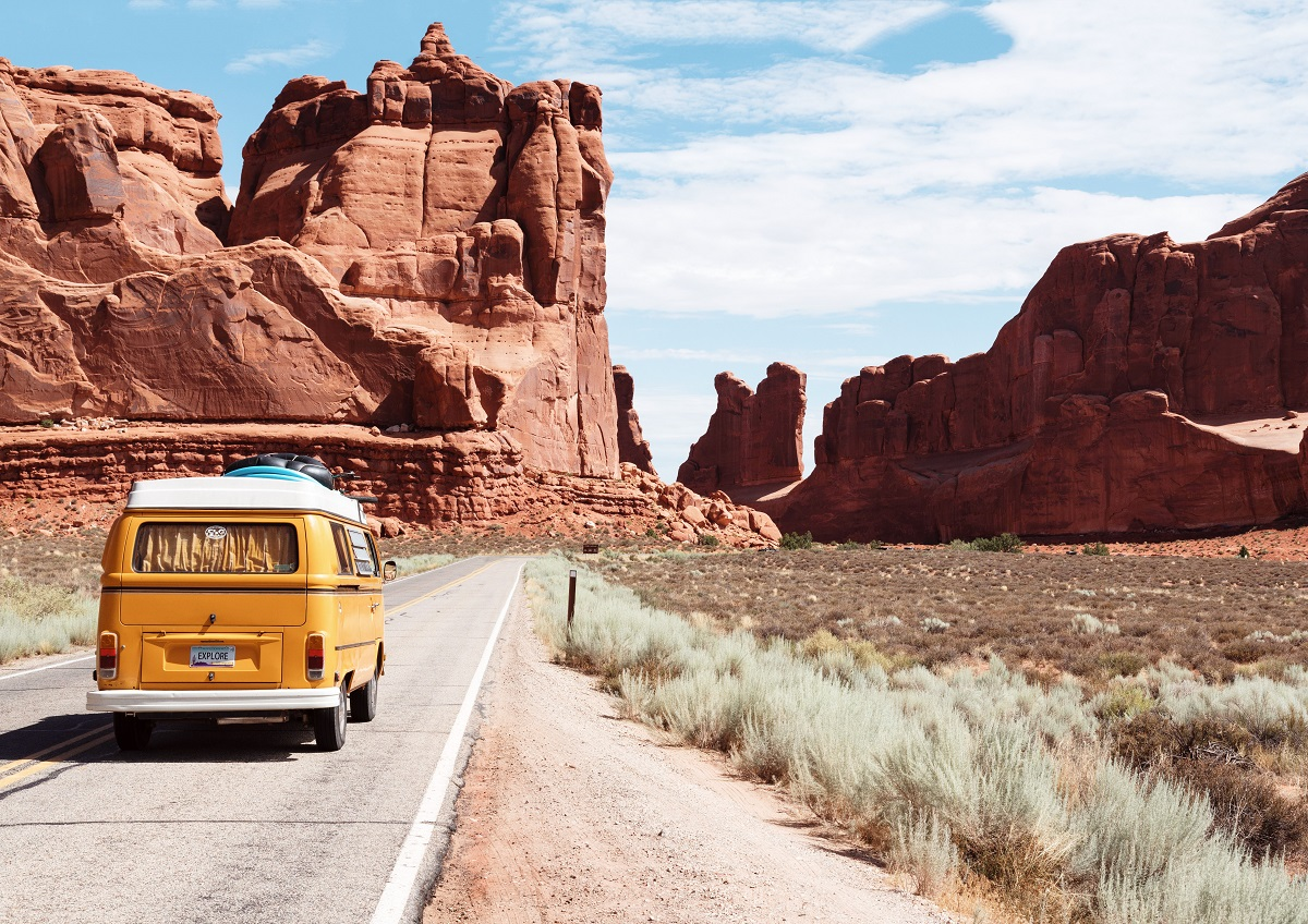 camper van traveling