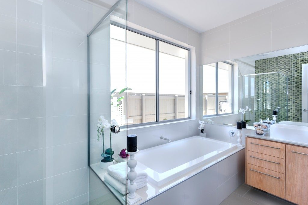 Clean bathroom interior