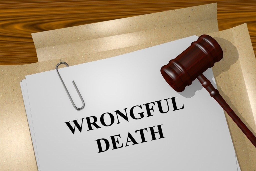 document on a wronmgful death case