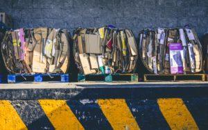 Recycling cardboard garbage