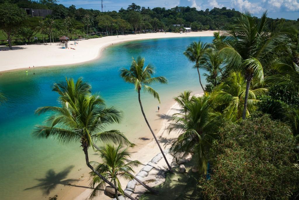 Palawan beach at Sentosa Island in Singapore