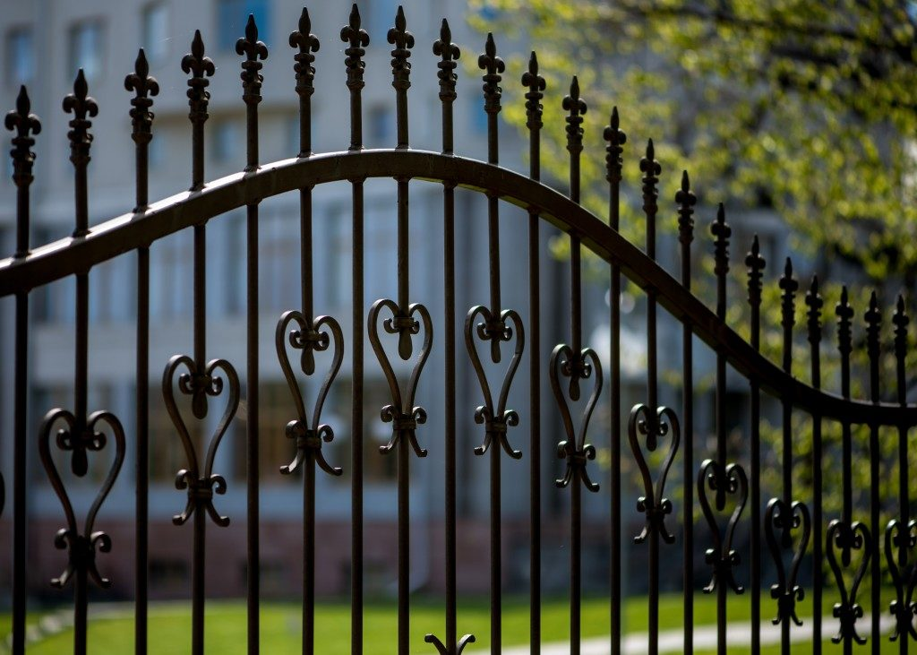 iron gate in front of house