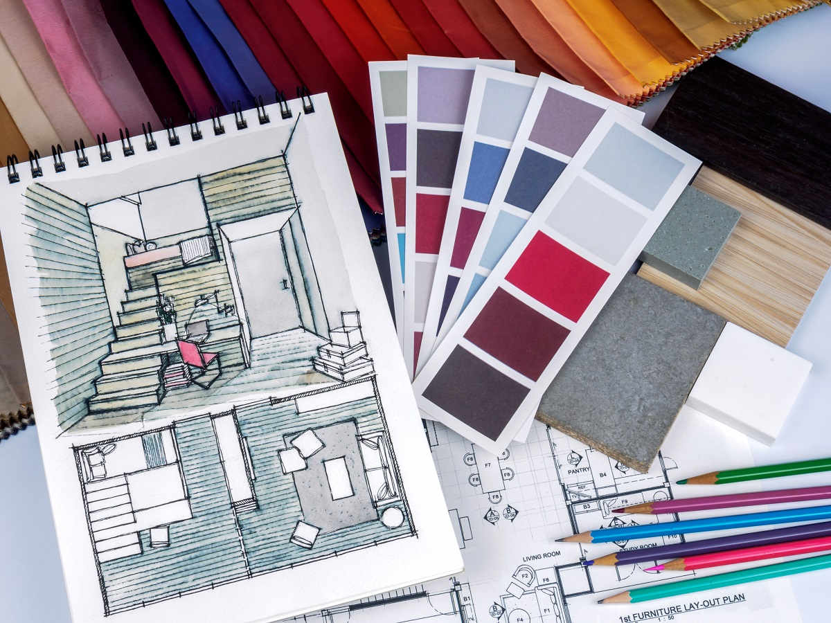 room sketches and swatches