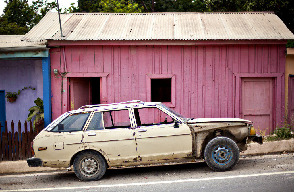 Old pink shed