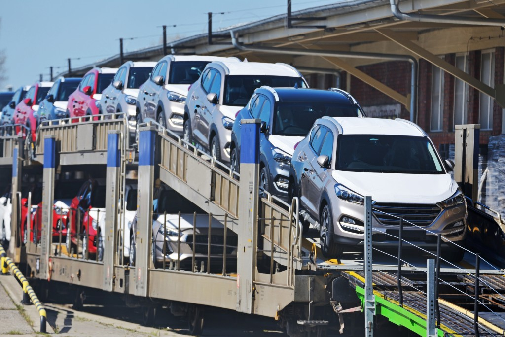 New cars being delivered