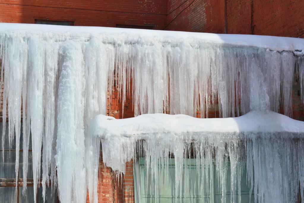frozen stairs