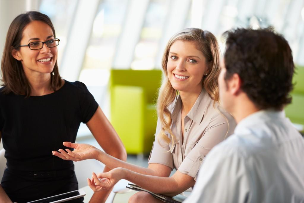 women staff having a meeting
