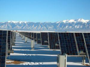 solar panel farm