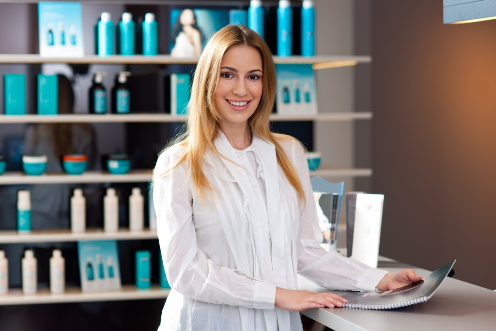 cosmetic shop owner