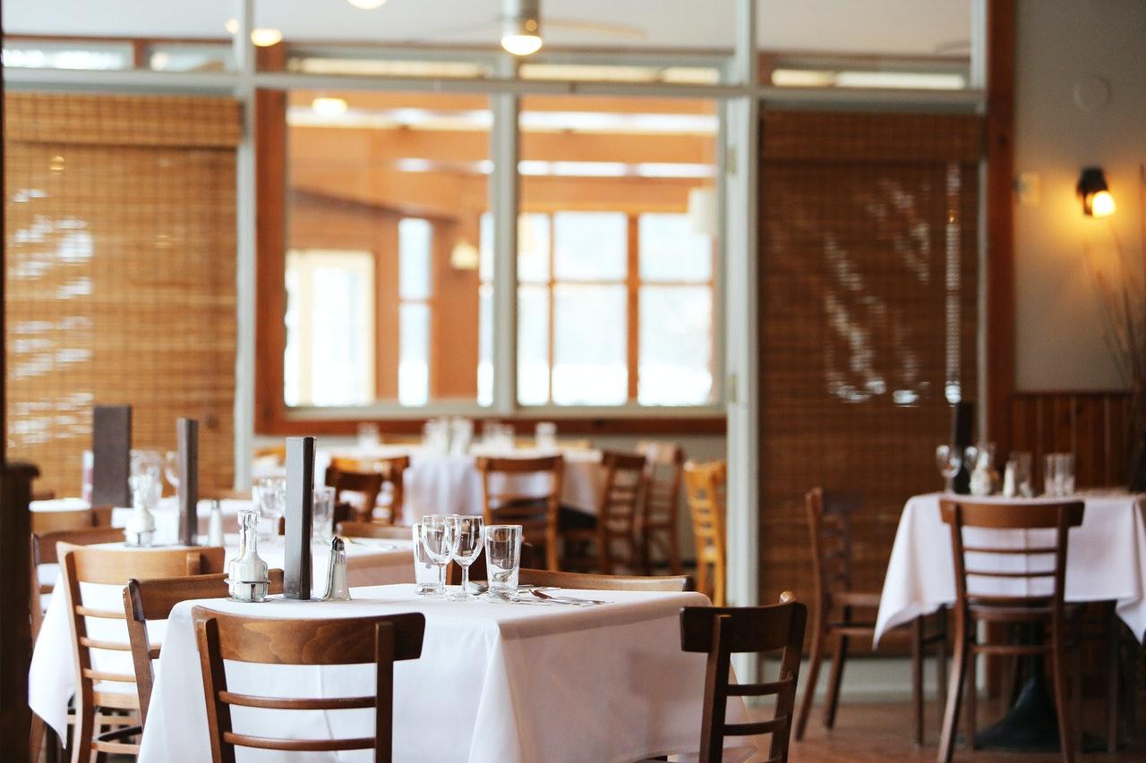 empty modern restaurant