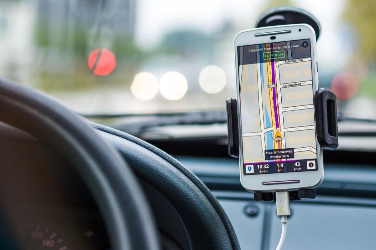 phone in a car