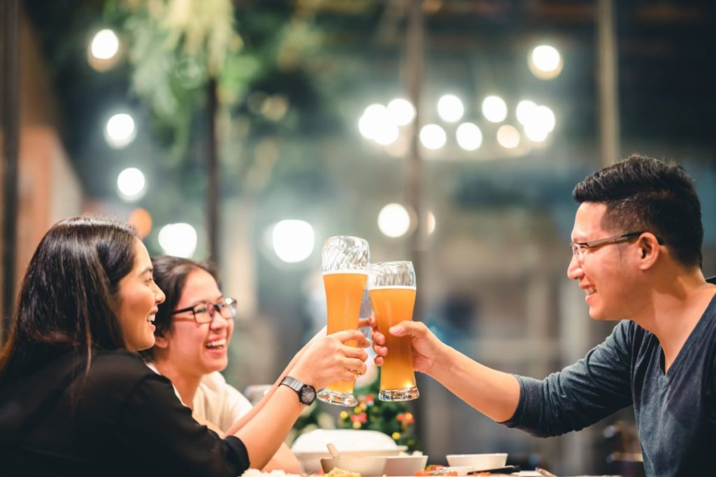 drinking outdoor bar