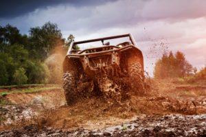 truck on mud