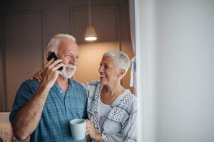 seniors making a call